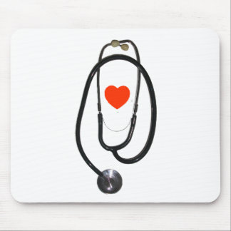 Stethoscope and Heart Mouse Pad