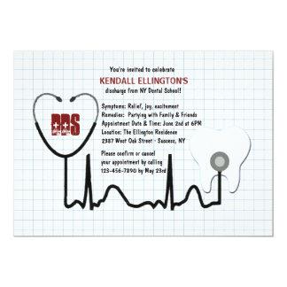 Stethoscope and Tooth Graduation Invitation