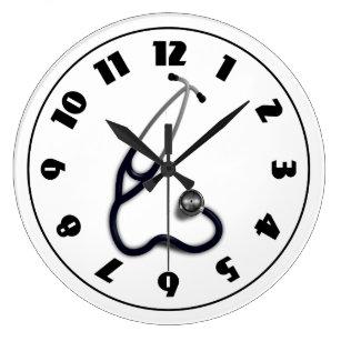 stethoscope wall clocks zazzle