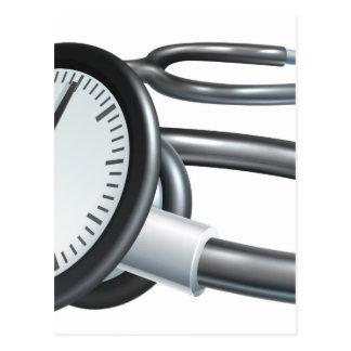 Stethoscope Clock Concept Postcard