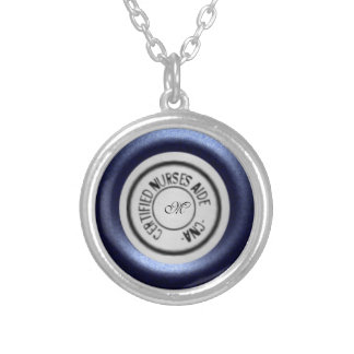 Stethoscope CNA Silver Plated Necklace