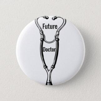 Stethoscope Design For Aspiring Doctors Button