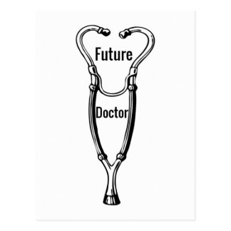 Stethoscope Design For Aspiring Doctors Postcard