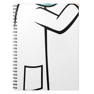 Stethoscope Doctor Cartoon Character Spiral Notebook