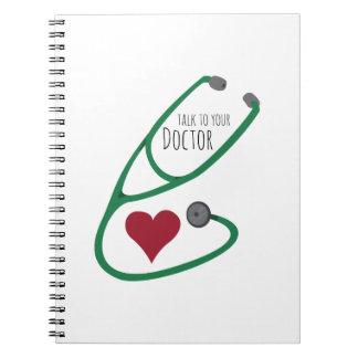 Stethoscope_Doctor Libreta Espiral