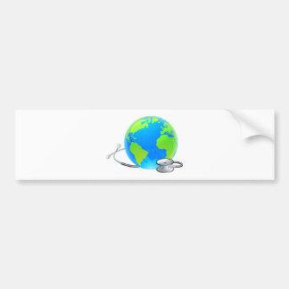 Stethoscope Earth World Globe Health Concept Bumper Sticker