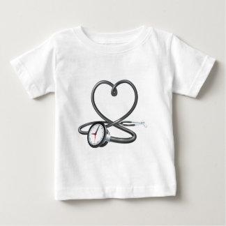 Stethoscope Heart Clock Concept Baby T-Shirt