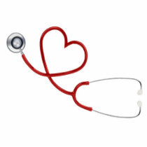Stethoscope Heart Cutout