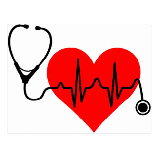 Stethoscope Heartbeat Heart Postcard