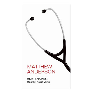 Stethoscope medical doctor business card