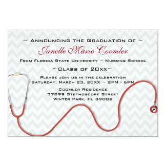 Stethoscope Medical School Graduation Invitation