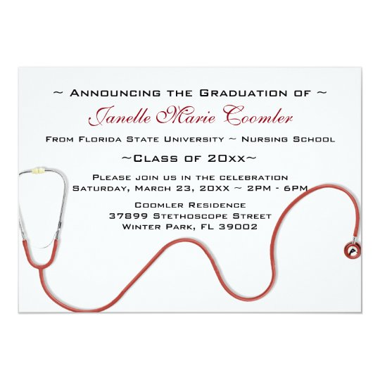 Be Creative With Our Blue Doctor Coat Medical School Graduation Invitation The Upper Half Of This Sets Scene A Man Wearing