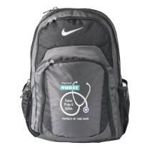 Stethoscope Nike backpack with medical nurse name
