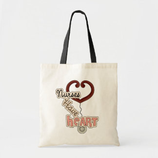 Stethoscope Nurses Have Heart T-shirts and GIfts Budget Tote Bag