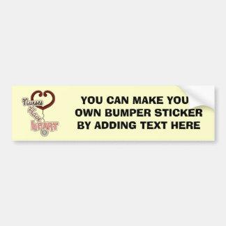 Stethoscope Nurses Have Heart T-shirts and GIfts Bumper Sticker