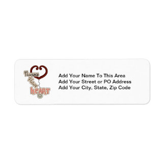 Stethoscope Nurses Have Heart T-shirts and GIfts Label
