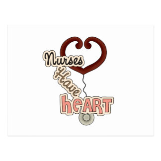 Stethoscope Nurses Have Heart T-shirts and GIfts Postcards
