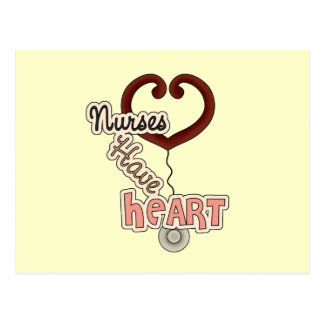 Stethoscope Nurses Have Heart T-shirts and GIfts Postcard
