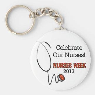 Stethoscope Nurses Week Custom Keychain