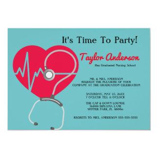 Stethoscope Nursing School Graduation Announcement