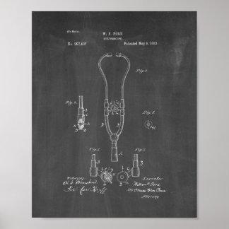 Stethoscope Patent - pizarra del doctor Impresiones