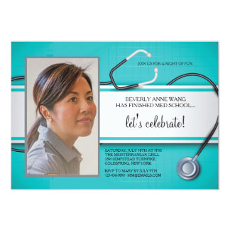 Stethoscope Photo Invitations