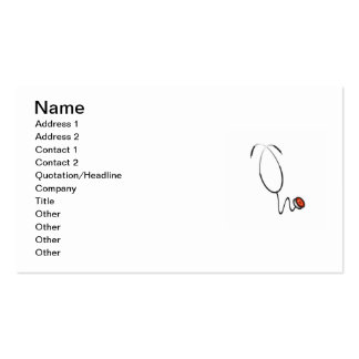 Stethoscope Tshirts and Gifts Business Card