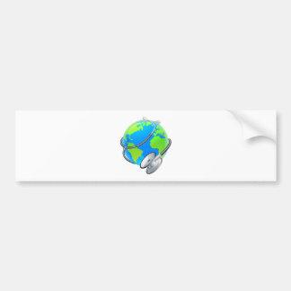 Stethoscope World Health Day Earth Globe Concept Bumper Sticker