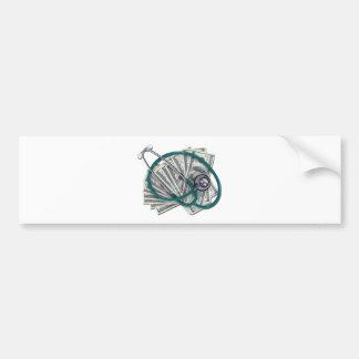 StethoscopeMoney061612.png Bumper Sticker