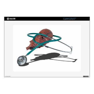 StethoscopeWrappedAroundMedicalHeart092715 Calcomanía Para 38,1cm Portátil
