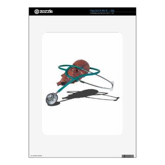 StethoscopeWrappedAroundMedicalHeart092715 Calcomanía Para iPad