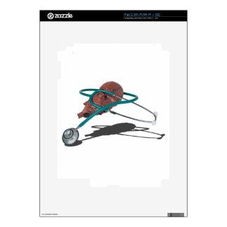StethoscopeWrappedAroundMedicalHeart092715 iPad 2 Calcomanía