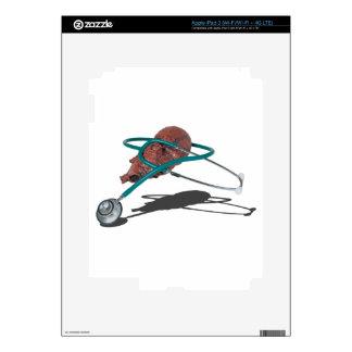 StethoscopeWrappedAroundMedicalHeart092715 iPad 3 Pegatina Skin