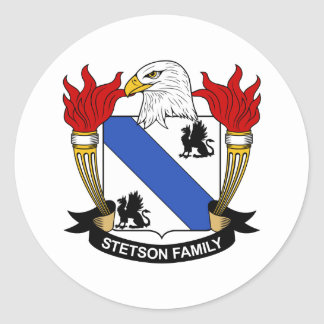 Stetson Family Crest Stickers