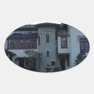 Stetson Mansion 3 Oval Sticker