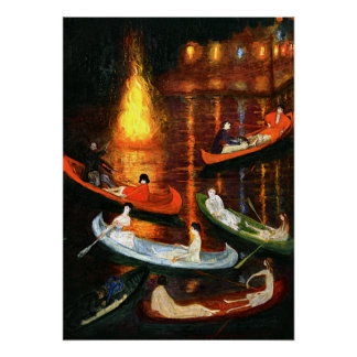 Stettheimer painting, Fate on the Lake Poster