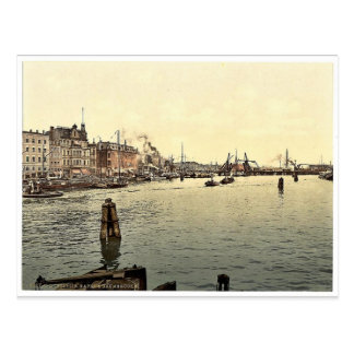 Stettin Harbor, Pommeraina, Germany (i.e., Szczeci Postcard