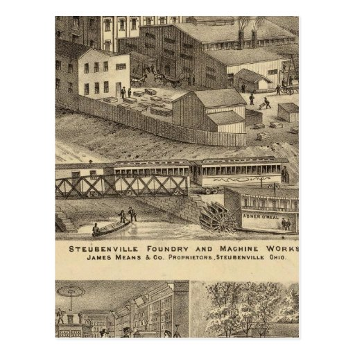 Steubenville Foundry and Machine Works Postcard