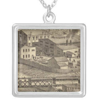 Steubenville Foundry and Machine Works Square Pendant Necklace