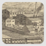 Steubenville Foundry and Machine Works Square Sticker