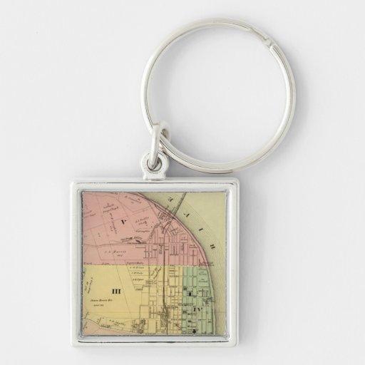 Steubenville, Ohio 2 Silver-Colored Square Keychain