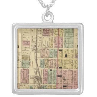 Steubenville, Ohio Square Pendant Necklace