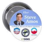 Steve Amos para el poli nacional 2012 del delegado Pin Redondo De 3 Pulgadas