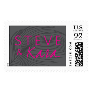 Steve and Kara Feather Monogram Postage