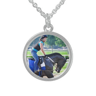 Steve Asmussen Workouts at Saratoga Sterling Silver Necklace