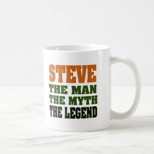 STEVE - el hombre, el mito, la leyenda Taza Básica Blanca