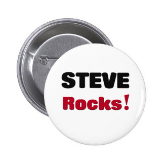 Steve Rocks Pinback Button