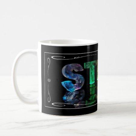 Steve - The Name Steve in 3D Lights (Photograph) Mugs