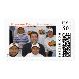 Steve with YET kids, Forever Young Foundation Postage