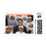 Steve with YET kids, Forever Young Foundation Postage Stamp